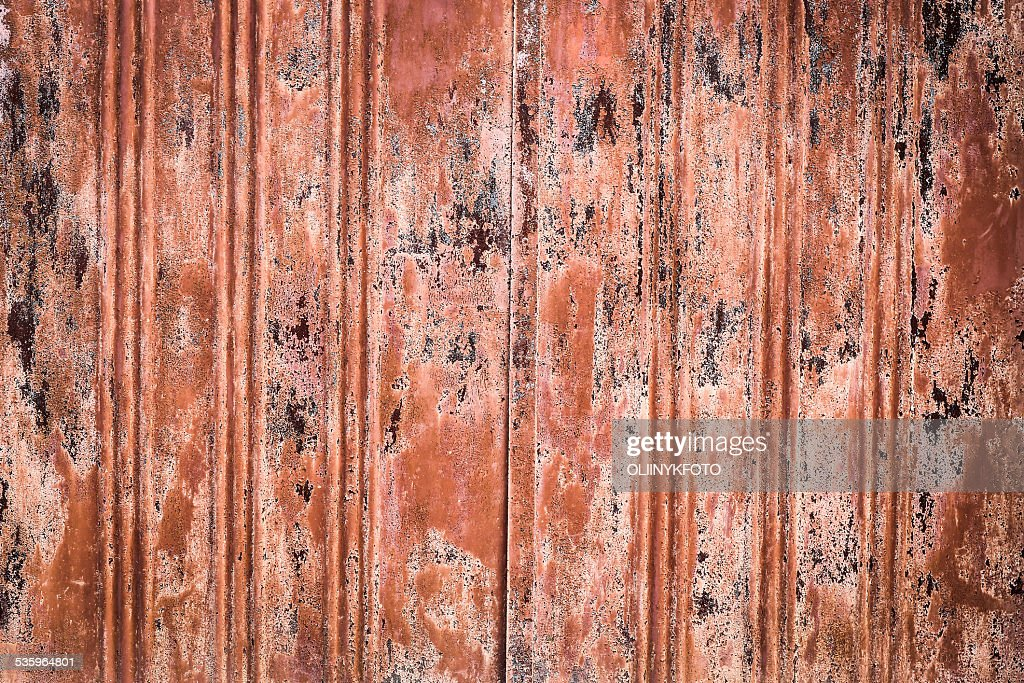 Old metal wall : Stock Photo