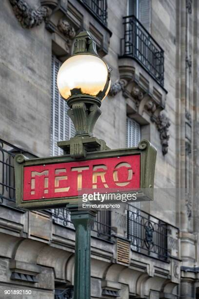 old metro sign in paris,france. - emreturanphoto stock pictures, royalty-free photos & images