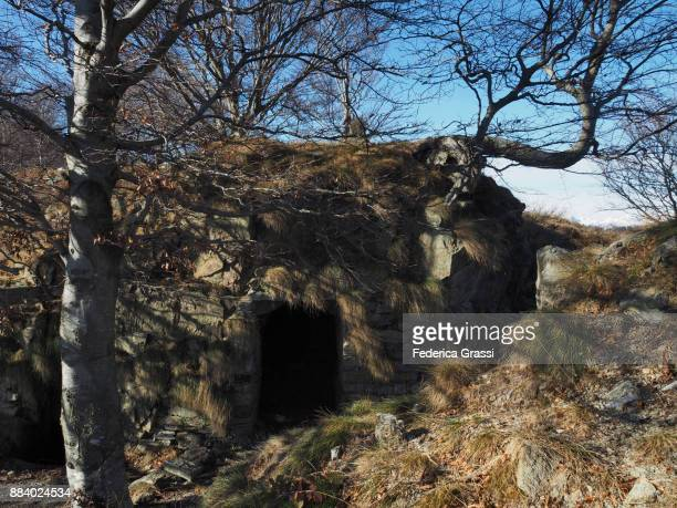 Old Military Bunker (World War One) On Mount Morissolo In The Lepontine Alps, Northern Italy