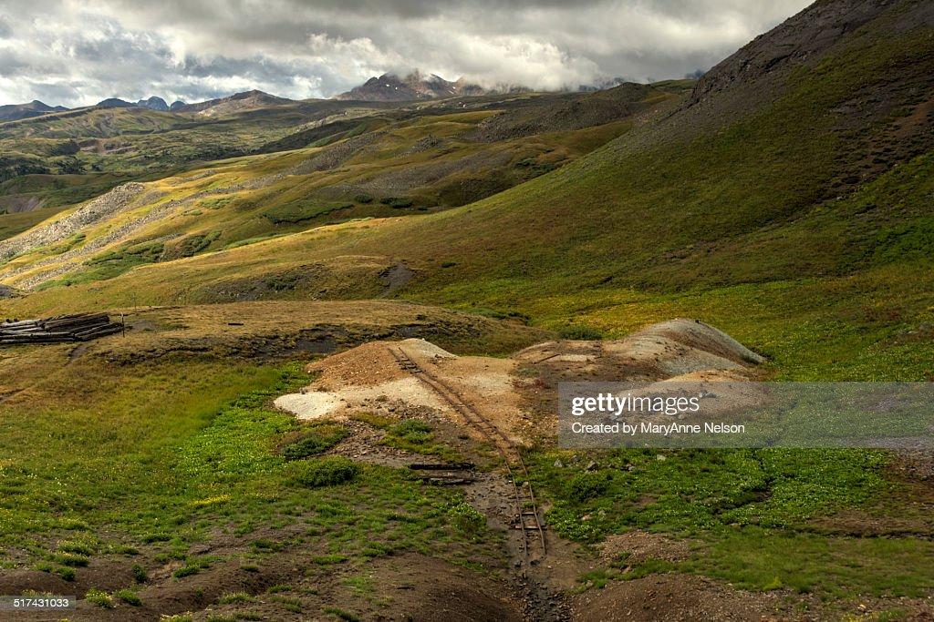 Old Mine Railroad Track on Stony Pass : Stock Photo