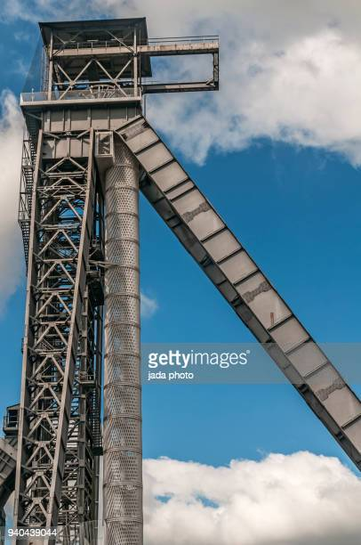 old mine shaft - mine elevator stock pictures, royalty-free photos & images
