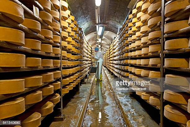 Old mine transformed in the aging Fontina cheese cellar