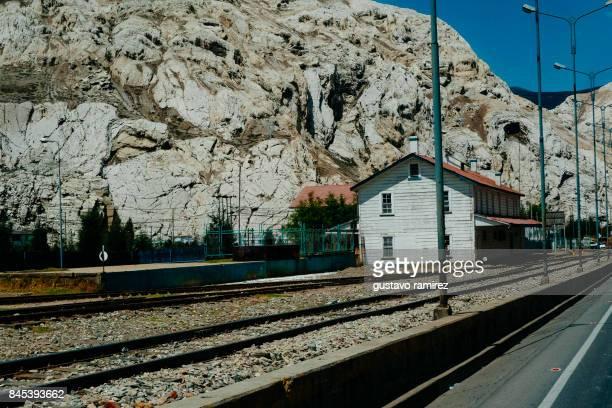 old mining train station