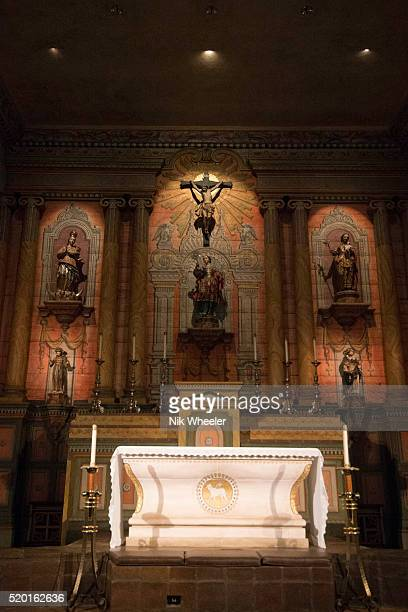 old mission santa barbara in california - mission santa barbara stock pictures, royalty-free photos & images