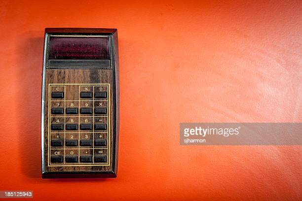 Old Model Electronic Calculator Isolated Object Vintage Machine
