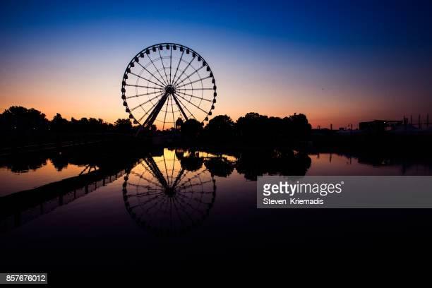 old montreal - ferris wheel - vieux montréal stock pictures, royalty-free photos & images