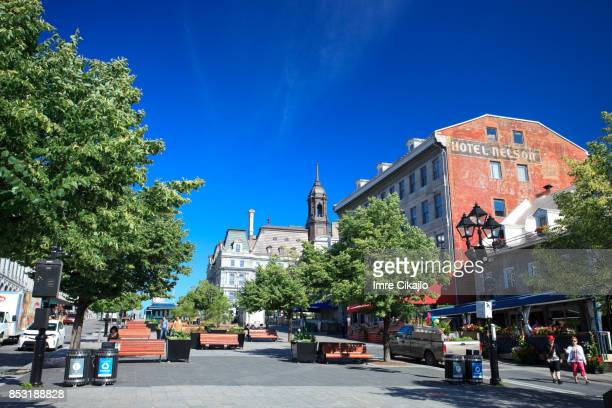 old montreal - place jacques cartier stock pictures, royalty-free photos & images