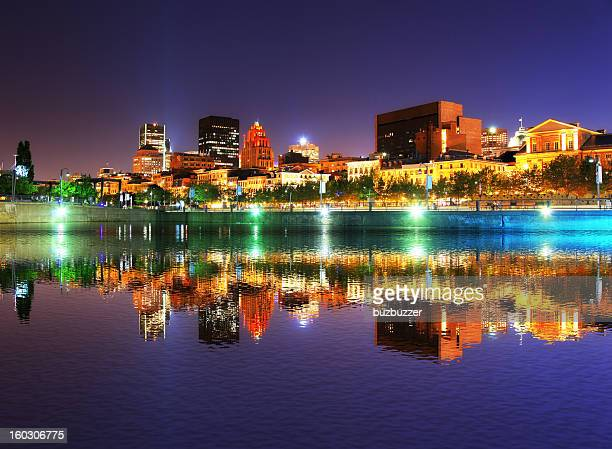 Old Montreal with Water Reflection