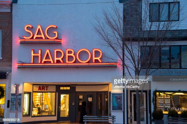 old movie theater - sag harbor stock pictures, royalty-free photos & images