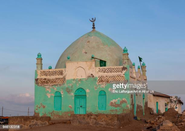 Old muslim grave with painted walls, Awdal region, Zeila, Somaliland on November 20, 2011 in Zeila, Somaliland.