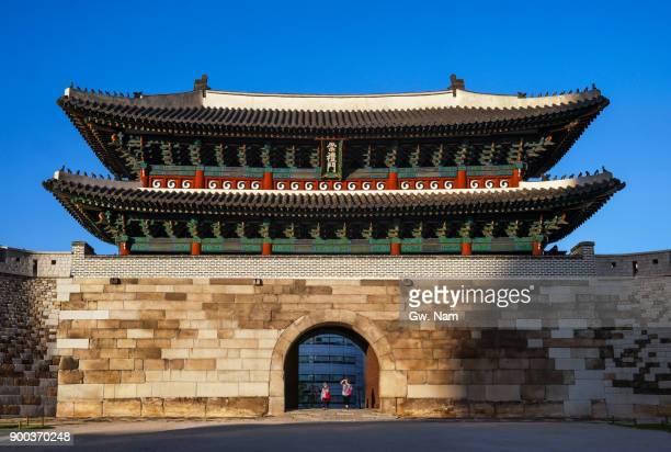 old Namdaemun Gate in office town