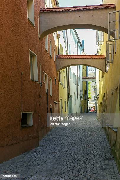 old narrow streets at passau germany