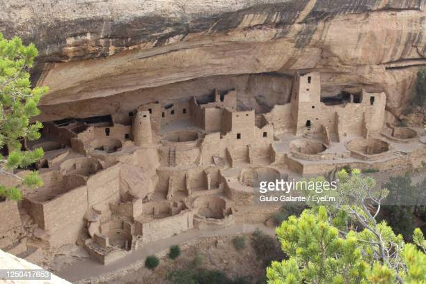 old native village in mesa verde, colorado - mesa verde national park stock pictures, royalty-free photos & images