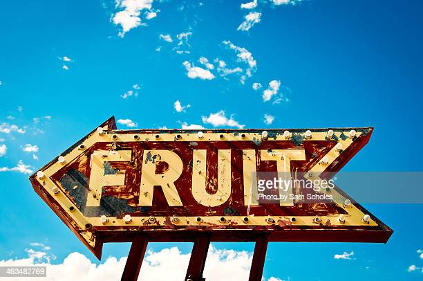 Old neon FRUIT sign
