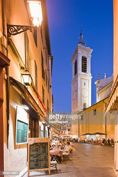 Old Nice, bell-tower of Sainte Reparate Cathedral