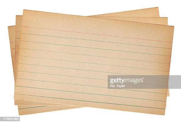 旧注カード - インデックスカード ストックフォトと画像