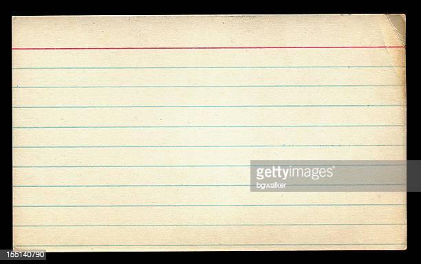 旧注カートにブラック - インデックスカード ストックフォトと画像