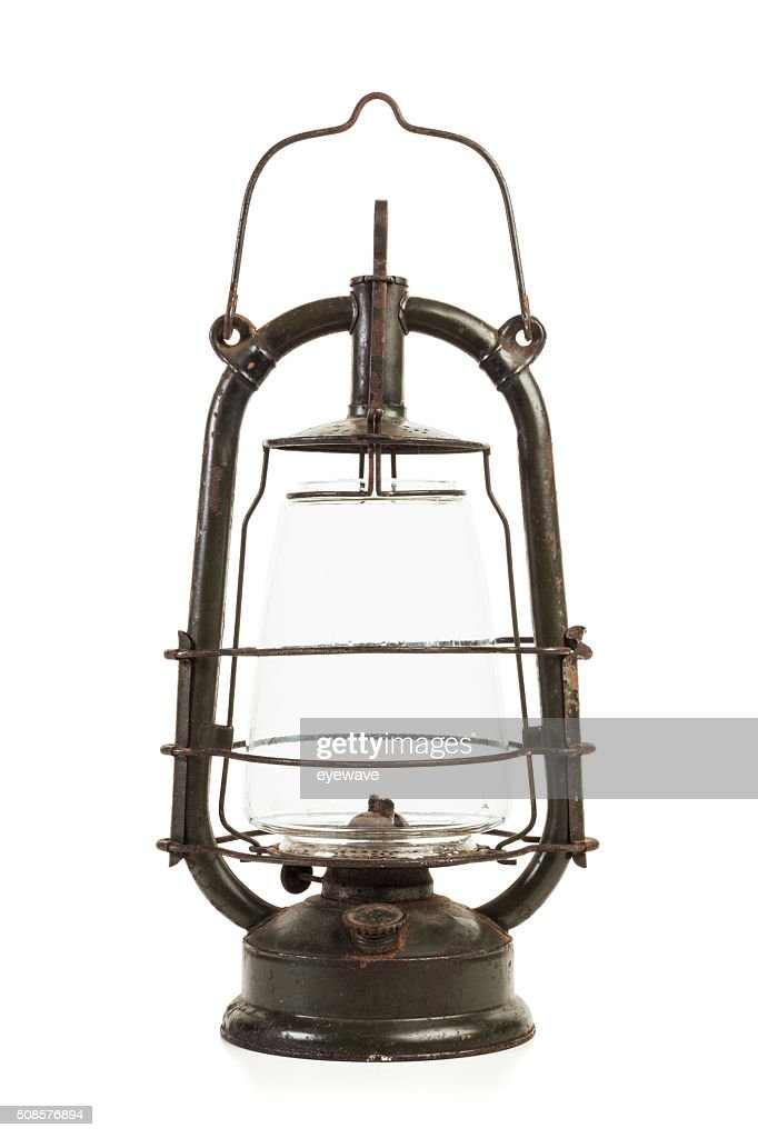 Old oil lamp isolated : Stock Photo