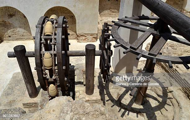Old oil mill of the eighteenth century in the Real Alcazar of Jerez de la Frontera. The Alcazar of Jerez was built in the twelfth century by the...