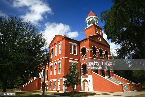 old osceola courthouse in kissimmee florida - kissimmee stock pictures, royalty-free photos & images