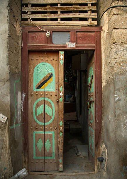 old painted wooden door qeshm island laft iran - Painted Wood Home 2015