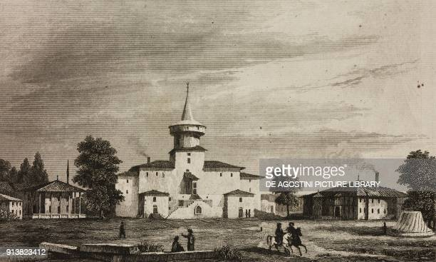 Old palace of the Sultan Eski Saray Turkey engraving by Lemaitre and Vormser from Turquie by Joseph Marie Jouannin and Jules Van Gaver L'Univers...