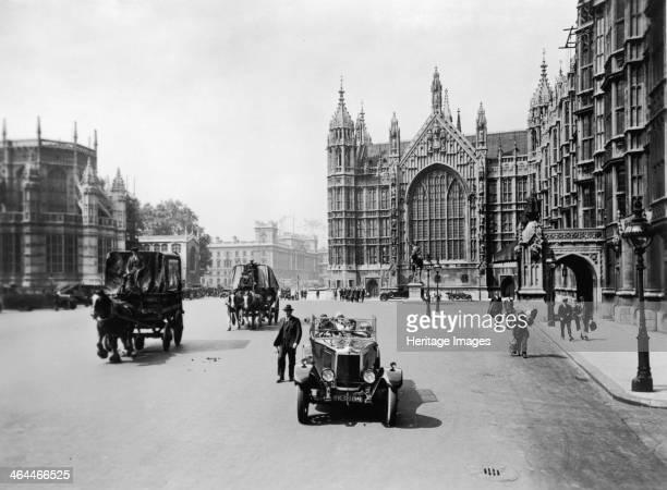 Old Palace Yard leading towards Whitehall Westminster London c1920s