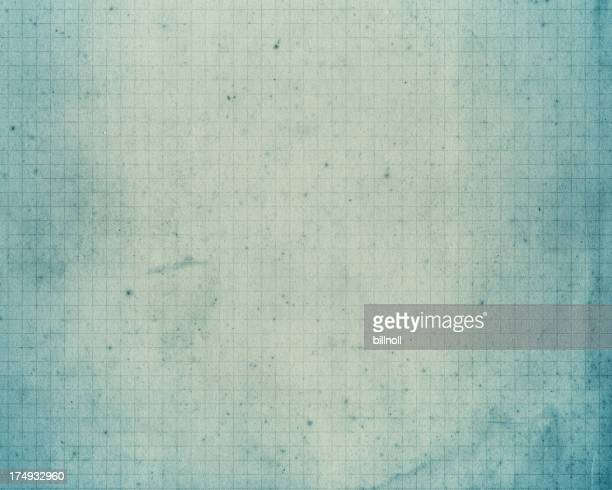 old pale blue graph paper