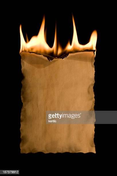 古い紙と暖炉 - 燃える ストックフォトと画像