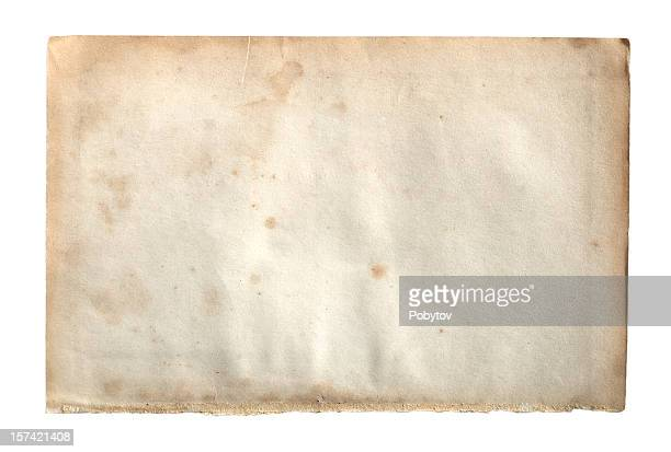 old paper isolated on white background - the past stock pictures, royalty-free photos & images