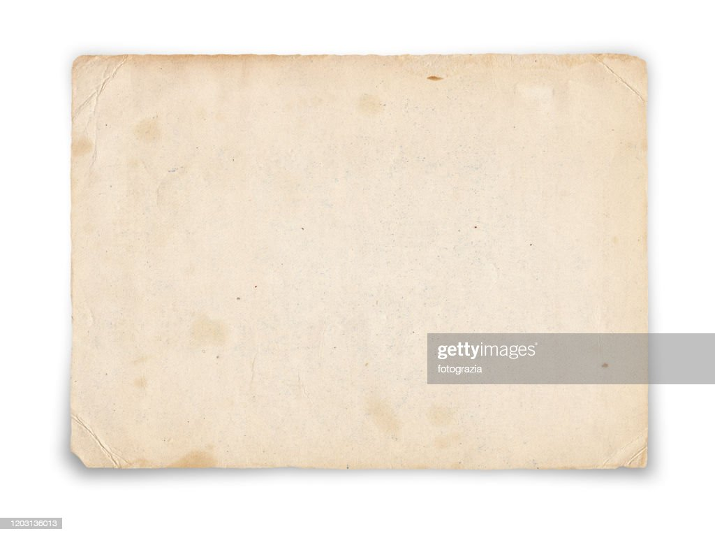 Old Paper Isolated on White : Stockfoto