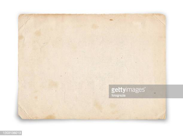 old paper isolated on white - archival bildbanksfoton och bilder