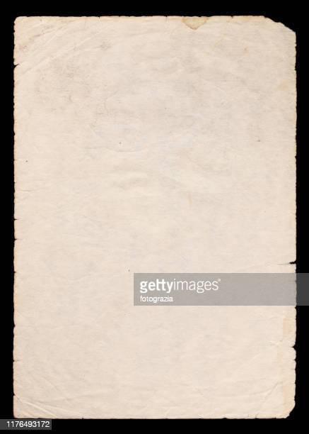 old paper on black background - the past stock pictures, royalty-free photos & images