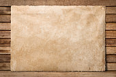 Old paper sheet at wooden background
