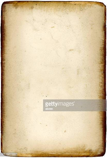 old paper with browned edges - sepia stock pictures, royalty-free photos & images