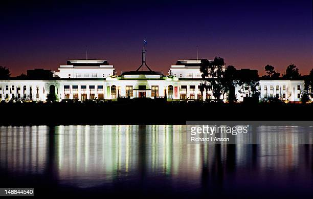 Old Parliament House at dusk.