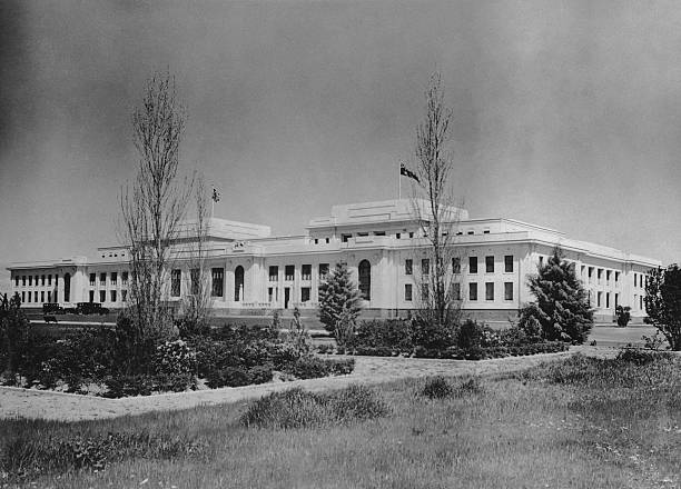 Old Parliament House in Canberra, 1927. The building...
