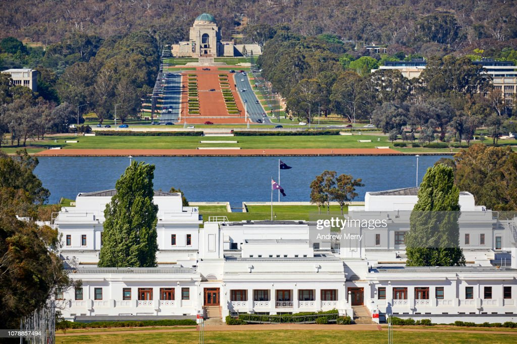Old Parliament House Lake Burley Griffin And The Australian