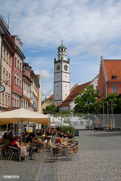 old part of town and the blaserturm, ravensburg, baden wuerttemberg, germany, europe. - ravensburg stock-fotos und bilder