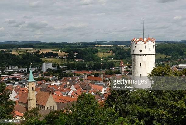 old part of town and the tower mehlsack, ravensburg, baden wuerttemberg, germany, europe - ravensburg stock-fotos und bilder