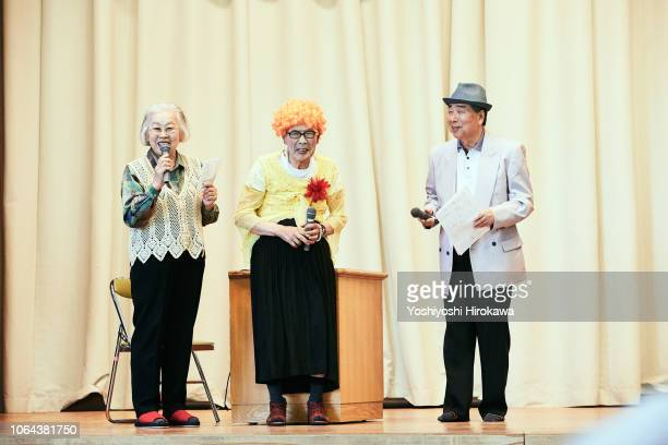 Old people who performance to act crime prevention