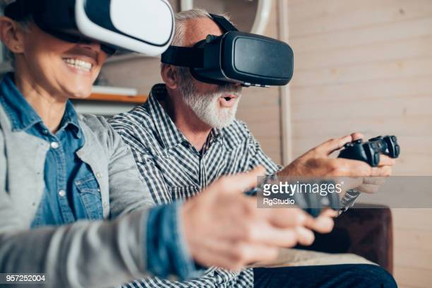 Old people with virtual reality