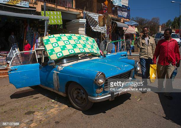 Old peugeot 404 taxi harari region harar Ethiopia on March 4 2016 in Harar Ethiopia
