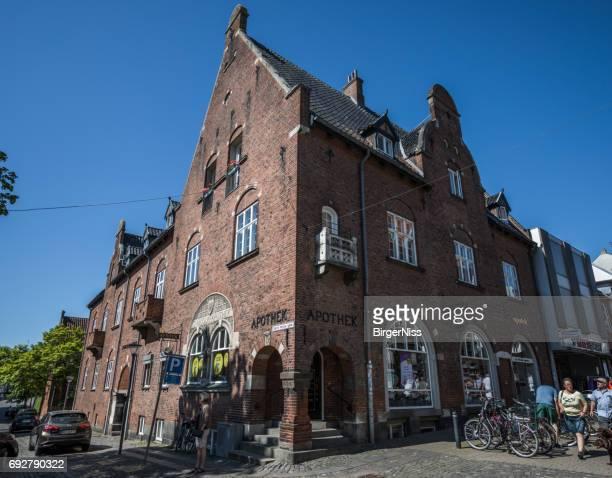 Alte Apotheke in Svendborg, Fünen, Dänemark