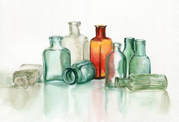 Old pharmacy's glassware