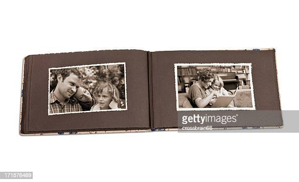 old photo album with memories of bygone times