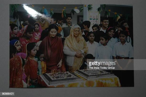 Old Photofraphs of HH Maharani Gayatri Devi with Princess Mom Rajawongse Priyanandana Rangsit of the Royal Family Thailand the Rani of late Maharaj...