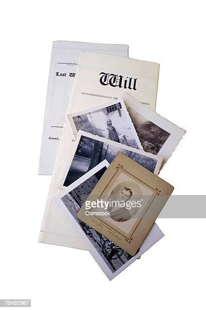 Old photographs and last will and testament