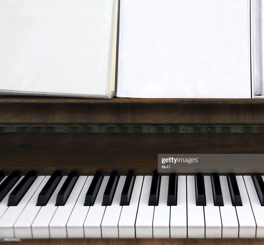 Old piano keys : Stock Photo