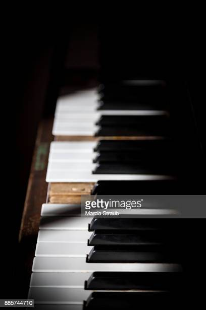 old piano - piano key stock photos and pictures